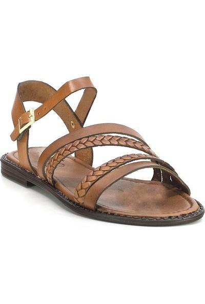 Eşle 20Y 121 Deri Kadın Sandalet Taba