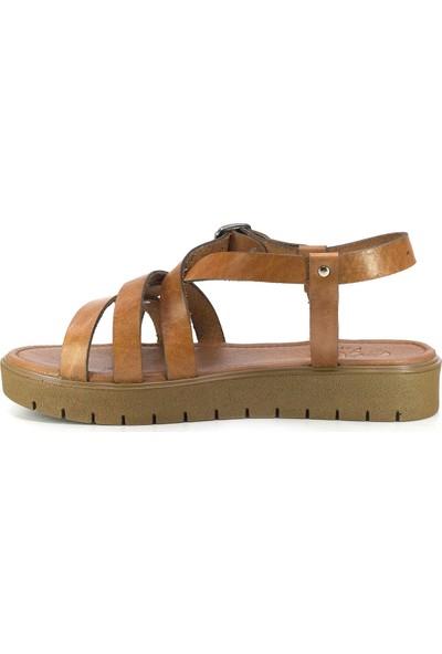 Eşle 20Y 303 Deri Kadın Sandalet Taba