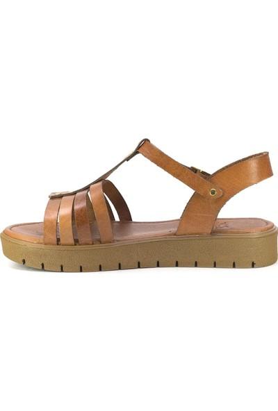 Eşle 20Y 307 Deri Kadın Sandalet Taba