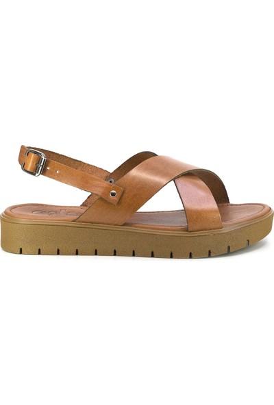 Eşle 20Y 332 Deri Kadın Sandalet Taba
