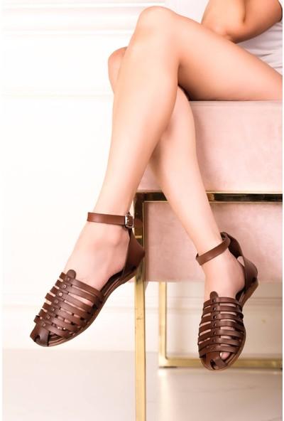 Eşle Ayakkabı 20Y Mugo 105 Kadın Sandalet Taba