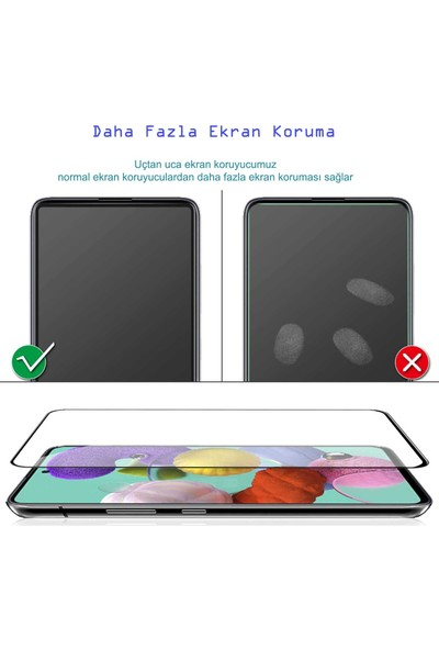 UKS Case Xiaomi Mi 8 Se Tam Kaplayan Ekran Koruyucu 5D Cam