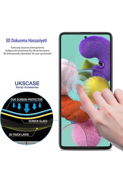 UKS Case Samsung Galaxy J8 2018 Tam Kaplayan Ekran Koruyucu 5D Cam