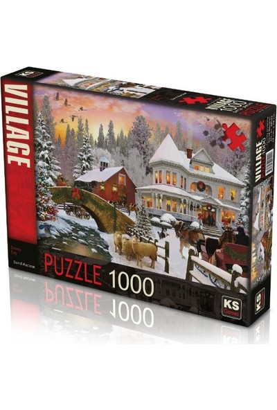 Ks Games Snowy Day 1000 Parça Puzzle 20542