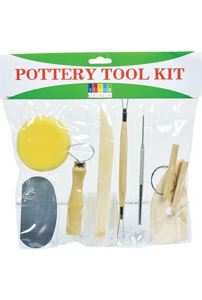 Südor Seramik Potery Tool Kids Başlangıç Seti 8'li