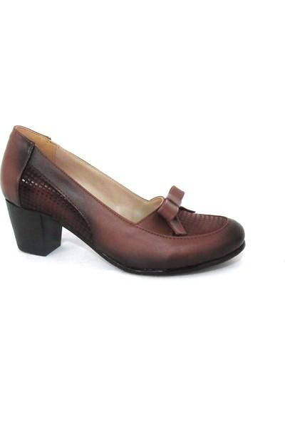 Örnek Taba Topuklu Kadın Ayakkabı