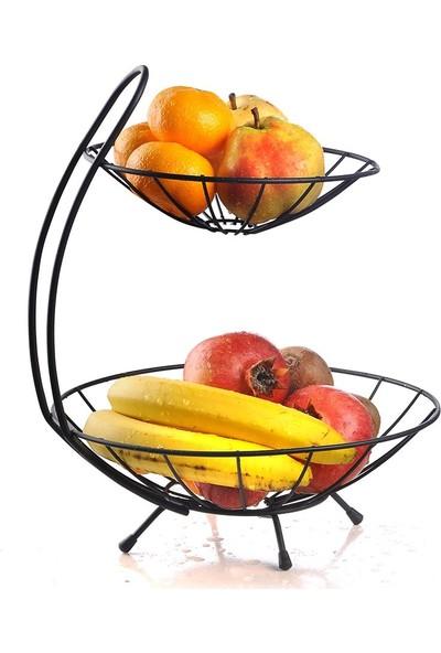 Nilşah 2 Katlı Metal Meyvelik