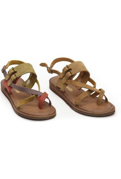 Charmia Kadın Deri Günlük Sandalet Ayakkabı Multi 143