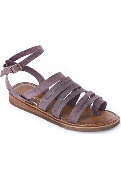 Charmia Kadın Deri Günlük Sandalet Ayakkabı Mor 90