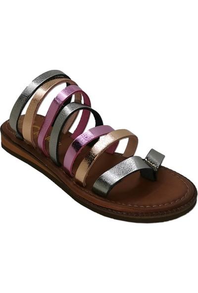 Charmia Kadın Deri Günlük Sandalet Ayakkabı Multi 160