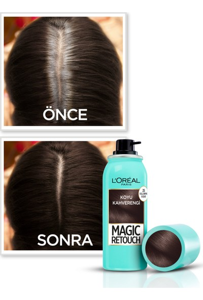 L'Oréal Paris Magic Retouch Beyaz Dipleri Kapatıcı Sprey - Koyu Kahverengi