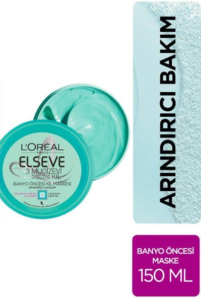L'Oréal Paris Elseve 3 Mucizevi Kil Banyo Öncesi Kil Maskesi 150 ml