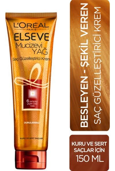 L'Oréal Paris Elseve Mucizevi Yağ Saç Güzelleştirici Krem 150 ml - Kuru ve Sert Saçlar