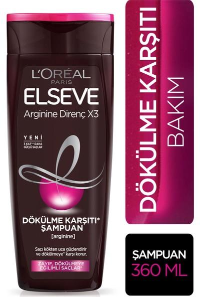 L'Oréal Paris Elseve Arginine Direnç X3 Dökülme Karşıtı Şampuan 360 ml