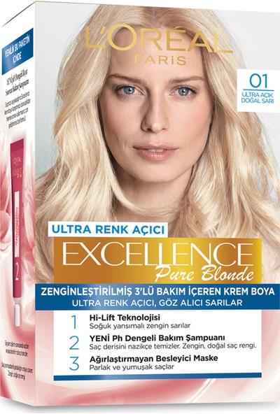 L'Oréal Paris Excellence Creme Saç Boyası 01 Ultra Açık Doğal Sarı
