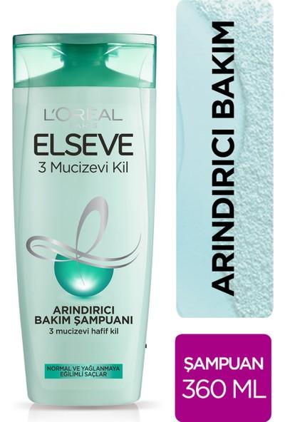 L'Oréal Paris Elseve 3 Mucizevi Kil Ağırlaştırmayan Şampuan 360 ml