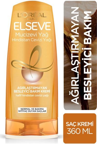 L'Oréal Paris Elseve Mucizevi Hindistan Cevizi Yağı Ağırlaştırmayan Besleyici Bakım Kremi 360 ml