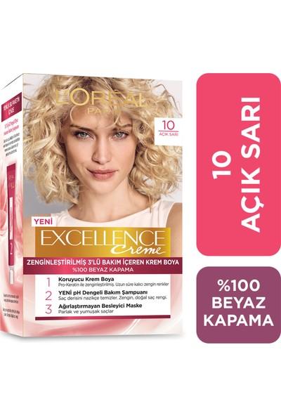 L'Oréal Paris Excellence Creme Saç Boyası 10 Açık Sarı