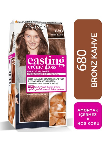 L'Oréal Paris Casting Crème Gloss Saç Boyası 680 Bronz Kahve