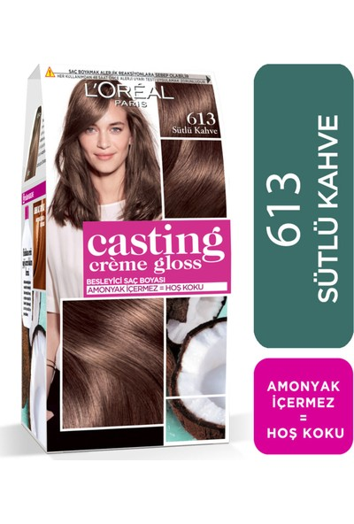 L'Oréal Paris Casting Crème Gloss Saç Boyası 613 Sütlü Kahve