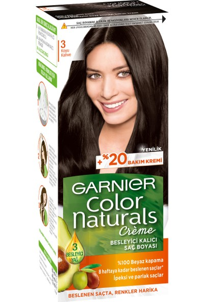 Garnier Color Naturals 3/0 - Koyu Kahve Saç Boyası