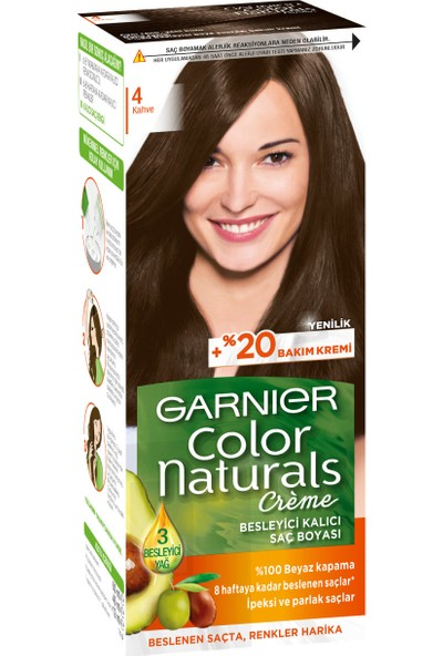 Garnier Color Naturals 4/0 - Kahve Saç Boyası