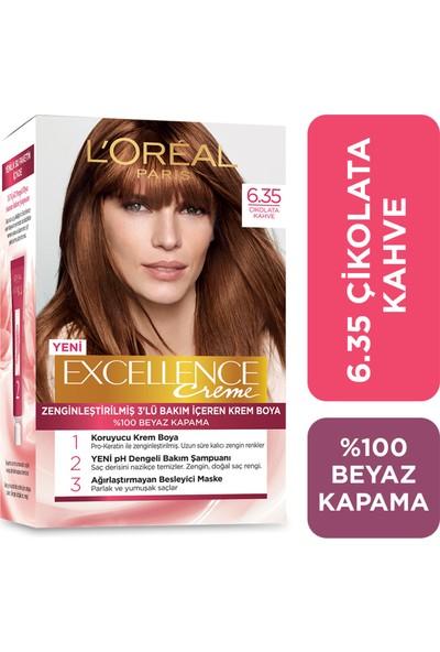 L'Oréal Paris Excellence Creme Saç Boyası 6.35 Çikolata Kahve