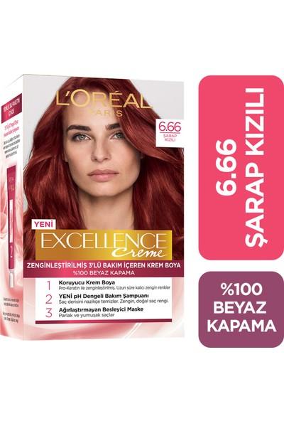 L'oréal Paris Excellence Creme Saç Boyası 6.66 Şarap Kızılı