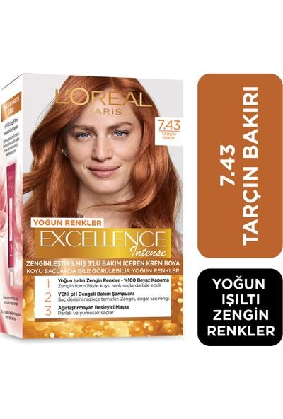 L'Oréal Paris Excellence creme 7.43 Tarçın Bakırı Saç Boyası
