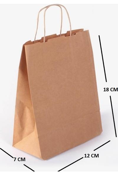 Kraft Kağıt Çanta Kağıt Poşet 25'li 18 x 12 x 7 cm