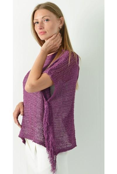Pinkmark Kadın Mor Bluz