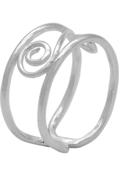 Estel Gümüş Spiral Motifli Yüzük