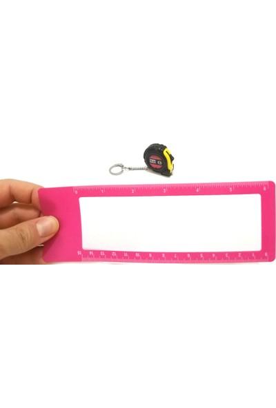 Comex İnce Plastik Ortası Büyüteçli Cetvel 15 cm