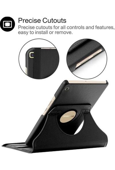 """Fibaks Samsung Galaxy Tab 4 SM-T230 7"""" Kılıf + Kalem 360 Derece Dönebilen Standlı Tam Koruma Uyku Modlu Kapaklı Siyah"""