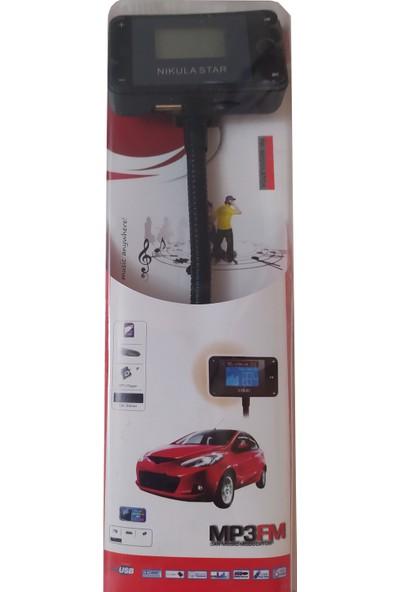 Nikula Star Mp3 Araç Müzik Çalar Sd Card USB Araç Kiti