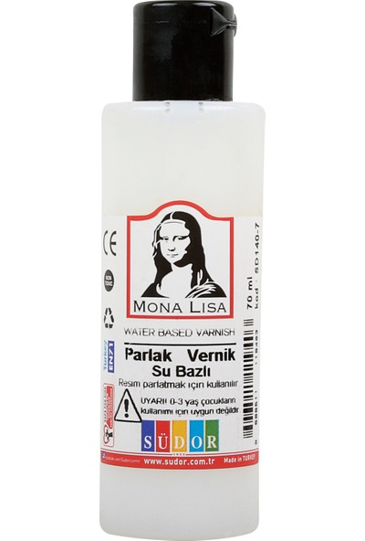 Mona Lisa Parlak Vernik Su Bazlı 70 ml 3'lü