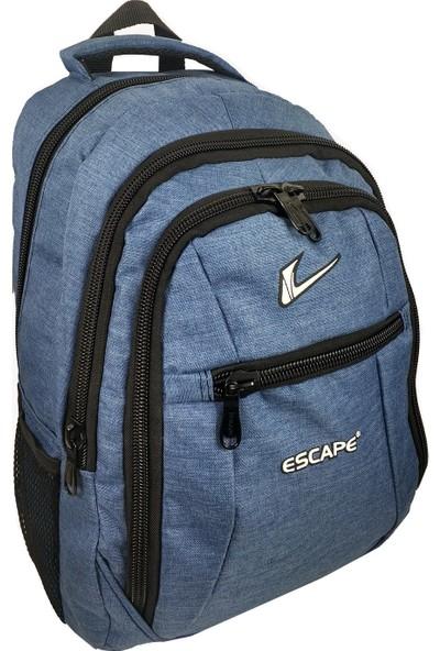 Escape Keten Kumaş Sırt Çantası Mavi