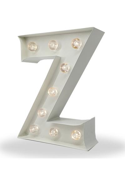 Artrasa Aydınlatma Işıklı Harf Aydınlatma Metal Z Harfi