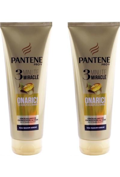 Pantene 3 Minute Miracle Saç Bakım Kremi Onarıcı Koruyucu x 2 Adet