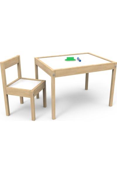 Treedi Art Yaz Sil Yüzeyli Çocuk Masa Sandalye Takımı