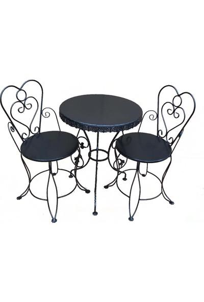 Naz Tasarım Ferforje Sandalye Siyah