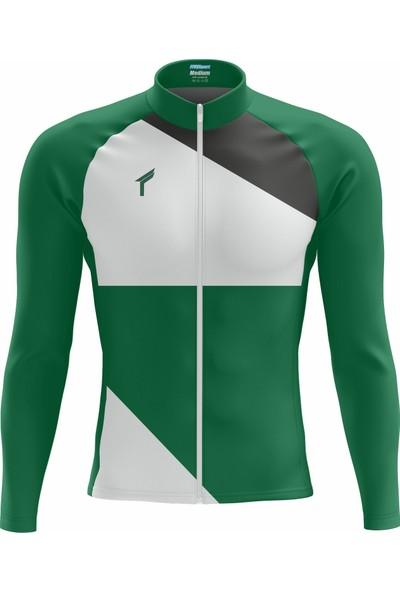 Freysport Talon Bisiklet Forması - Uzun Kollu Yeşil Beyaz