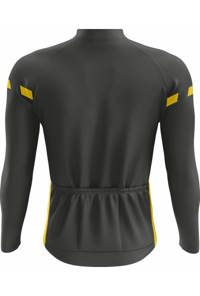 Freysport Lane Bisiklet Forması - Uzun Kollu Siyah Sarı