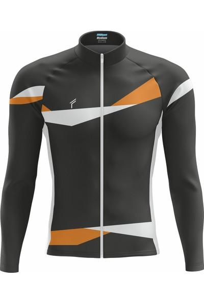 Freysport Braid Bisiklet Forması - Uzun Kollu Siyah Beyaz