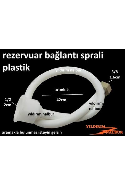 Tema Rezervuar Bağlantı Fleksi Plastik Kafa 1/2-3/8 Spral Düz Spral 42 cm