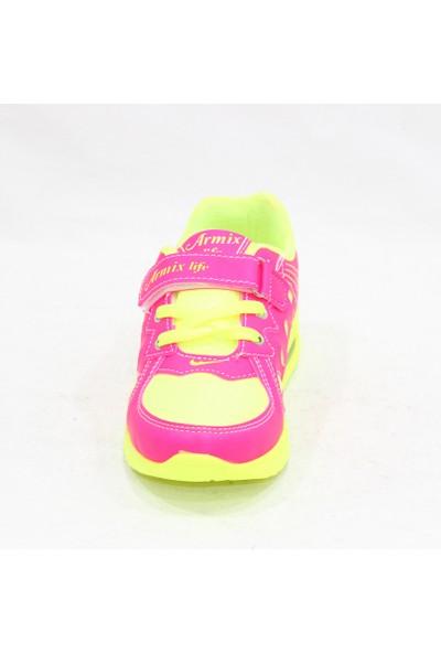 Armix Fuşya Neon Sarı Çocuk Spor Ayakkabı