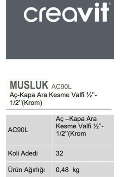 Creavit AC90L Aç-Kapa Ara Kesme Valfi