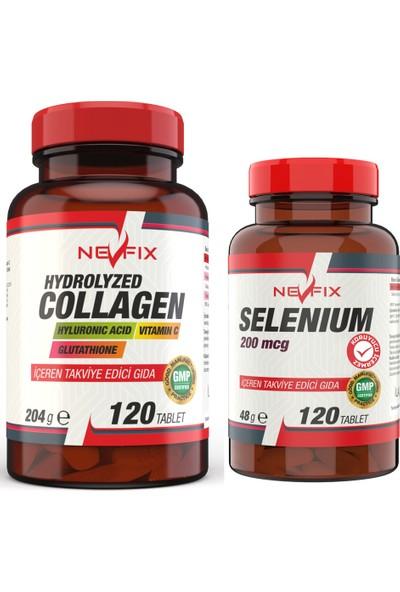 Nevfix Collagen Hyaluronic Acid 120 Tablet + Selenyum 200 Mcg 120 Tablet