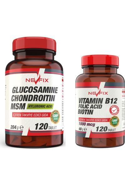 Nevfix Glucosamine Chondroitin Msm 120 Tablet + B12 Folic Acid 120 Tablet