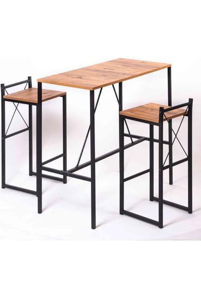 Weblonya Bar Masası Mutfak Yemek Masası 2 Kişilik 5070